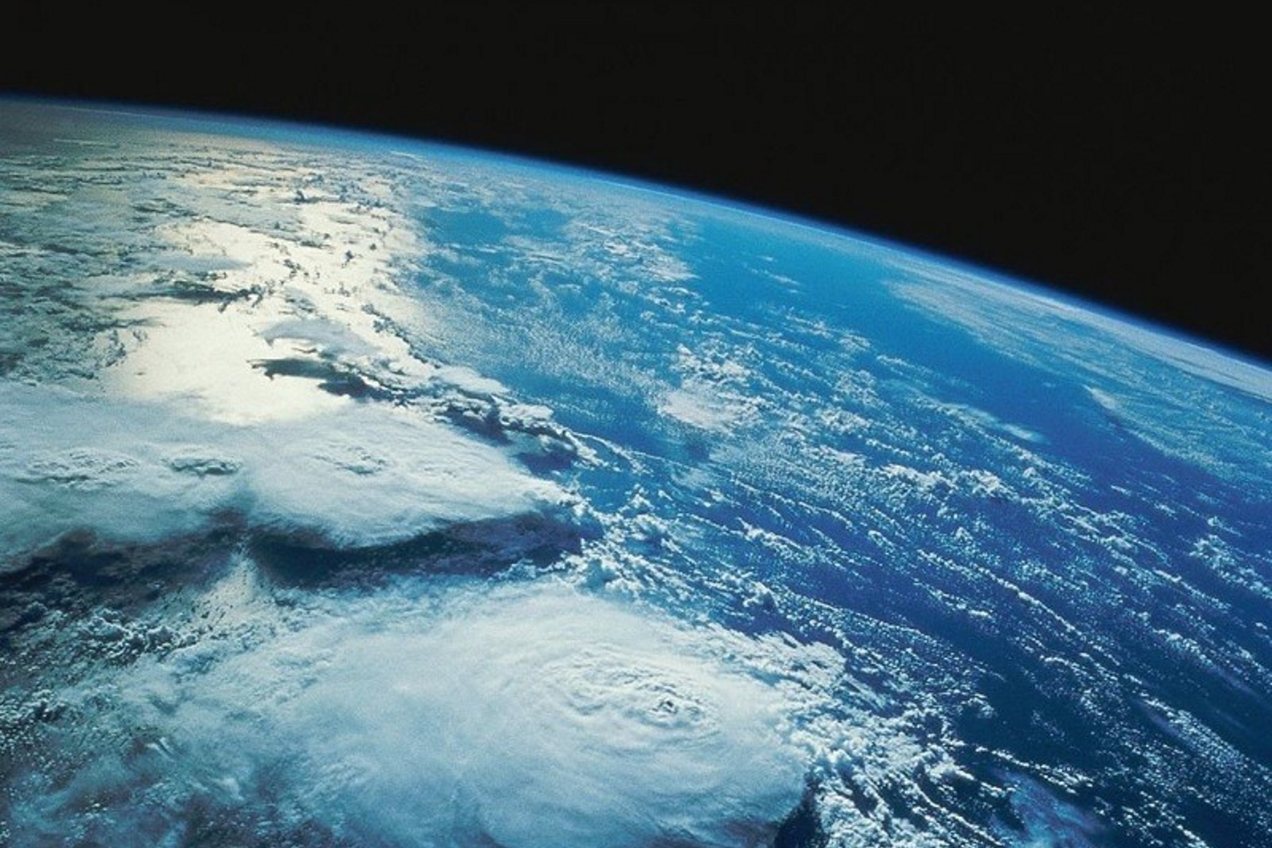 image of earth rising in space